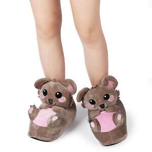 778f2348ca Das Bild wird geladen Koala-Suesse-Pluesch-Hausschuhe -Pantoffeln-Puschen-Slipper-Top-