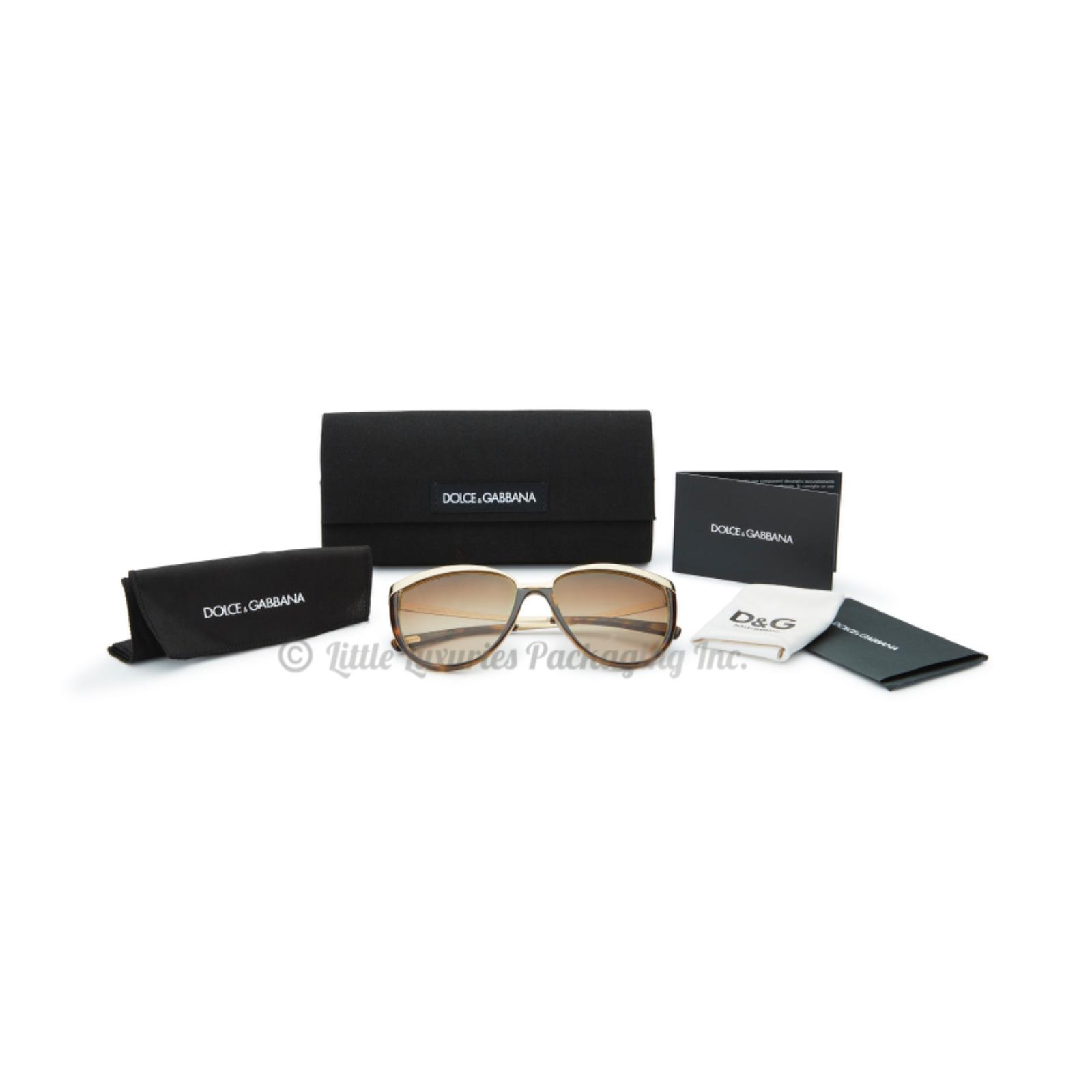 Authentic Dolce & Gabbana D&G Havana Brown Cat Eye Sunglasses + Accessories