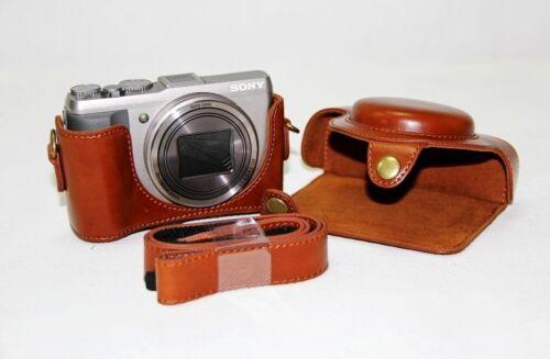 Nuevo caso de cámara de cuero Vintage Bolso Cubierta Para Sony DSC-HX50V HX50 HX-60 HX60