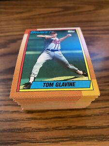 (90) 1990 Topps #506 Tom Glavine Atlanta Braves NM-MT+ Lot