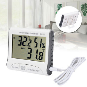 LCD Wireless Indoor Outdoor Thermo-Hygrometer Thermometer Humidity Meter