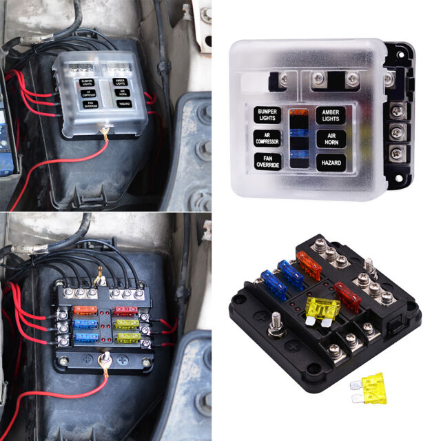 6 Way Blade Fuse Box Block Holder LED Indicator for 12v Automotive Car  Marine for sale online   eBayeBay
