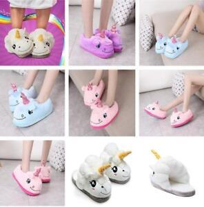 Pop-Adult-Plush-Winter-Warm-Soft-Cute-Men-Women-Unicorn-Slippers-Indoor-Shoes-G