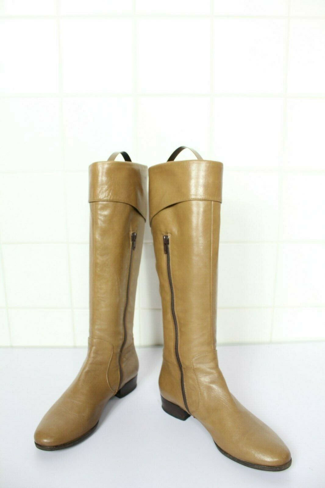 Pomme d or lujo elegante High botas botas plenamente cuero genuino marrón eu 37, 5-