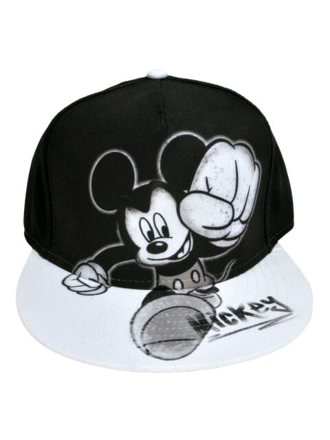 Officially Licensed Men's Mickey Mouse Graphic Baseball Hat Cap - Snapback Black