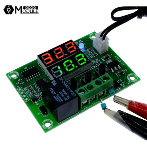 DC 12V//5V Digital Dual LED Timer Temperature Controller Thermostat Relay Module
