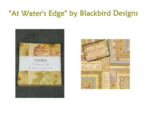 """40-5/"""" Squares RARE Moda AT WATER/'S EDGE Charm Pack by Blackbird Designs"""