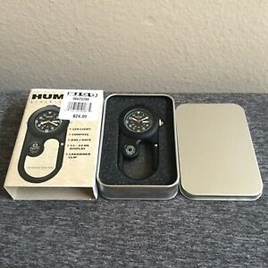 HUMVEE Explorer SS Silver Led Clip Watch, w/ Gift Box, Compass