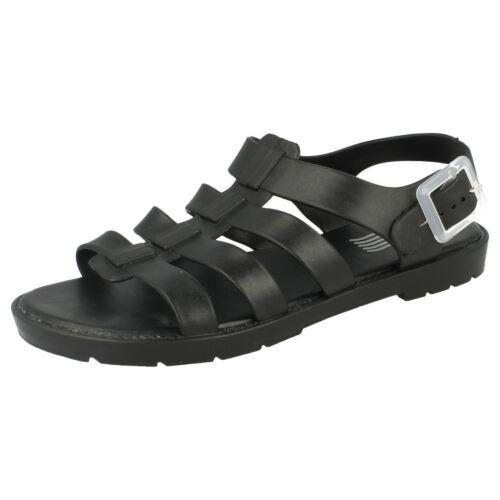 R25B Waves F0837 Ladies PVC Jelly Sandals Black UK3 to 8