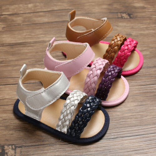 New Arrival Fashion Baby Girl Pram Shoes Infant Toddler Summer Sandals Size1 2 3