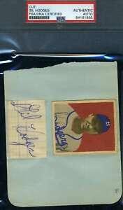 Gil-Hodges-PSA-DNA-Coa-Autograph-Hand-Signed-Album-Page-With-1949-Bowman-Rookie