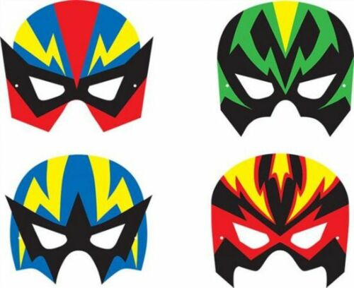 Foam with Elastic Super Hero Mask x 4 Different Masks