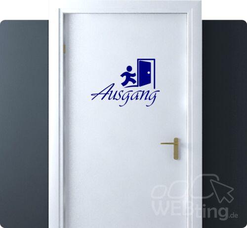 Ausgang Türaufkleber Tür Wandtattoo Aufkleber Folienaufkleber Schild Zimmer