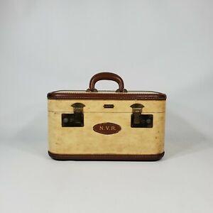 Vintage Hartmann Tweed Train Travel Case Suitcase Luggage 1940s 1950s