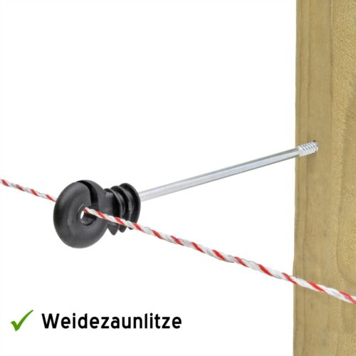 20x Langstiel Ringisolator 220mm Abstandsisolator Litze Seil Band bis 10mm