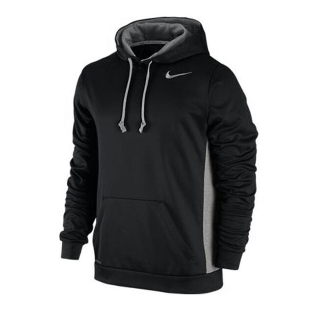 Nike Men's Ko 3.0 Therma Fit Hoodie Sweatshirt Black Gray 650733 010 Sz 2XL XXL