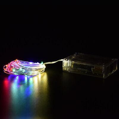 Xmas 1 2 3 5 10M LED Silver Copper Cable Wire Fairy Light String Lamp Fad