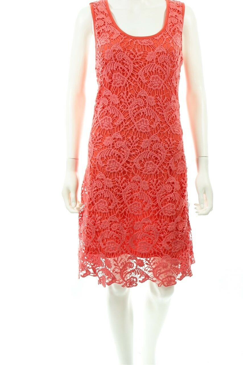 Milla Pink Women's Lace Knee Length Casual Dress