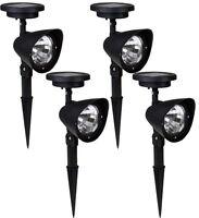 4x Solar Spot Light Outdoor Garden Lawn Landscape Led Spotlight Path Lamp 4-led on sale