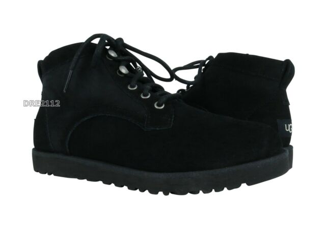 d24a8b3d915 UGG Bethany Black Suede Sheepskin Lace up Classic Ankle BOOTS Size US 9.5