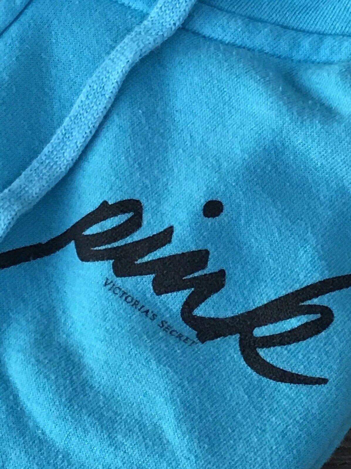 """VICTORIA'S SECRET PINK , RARE"""" RARE"""" RARE"""" Sky bluee  color Hooded Zip Up Swestshirt     18a4e2"""