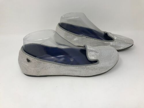 Women/'s Roxy 457T47 Pyper Ballet Flats Silver Q48 New w// Defect