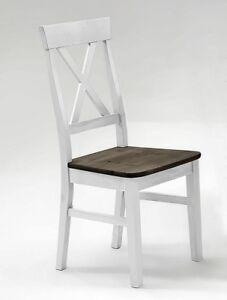 Das Bild Wird Geladen Kuechenstuhl 2farbig Weiss Grau Kiefer Holz Stuhl  Esszimmer