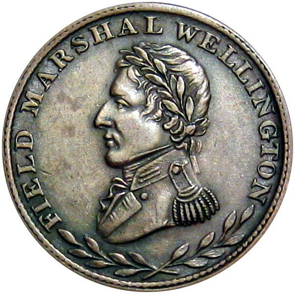 Field Marshal Wellington Canada Halfpenny Token Spear Breton 972 WE-ZB4 Rare