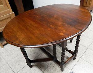 GATELEG-TABLE-engl-TISCH-WANDTISCH-Eiche-um-1880