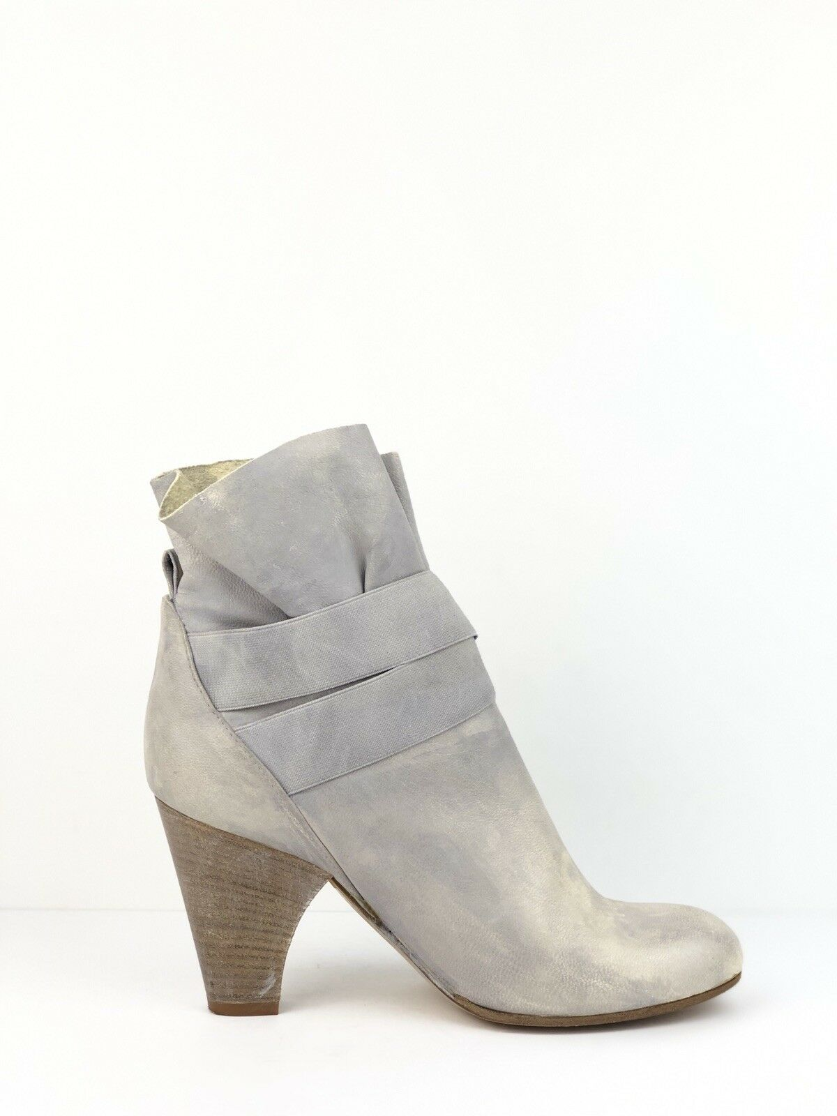 Latitude Femme Boots ITALY Ankle Booties Distressed Leather Sz 37.5 US 7.5 EUC