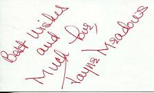 "JAYNE MEADOWS ""WHAT'S MY LINE"" ""THIN MAN"" ACTRESS SIGNED CARD AUTOGRAPH"