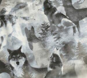 Into-the-Woods-wildlife-wolves-gray-Benartex-fabric