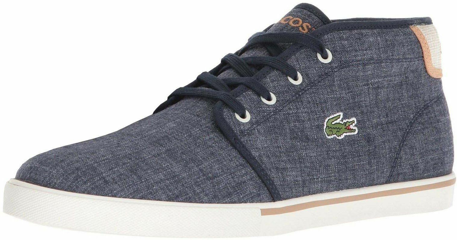 Lacoste Ampthill 218 Navy Weiß Canvas Mens Trainers