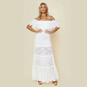 Off the Shoulder Maxi Wedding Dress