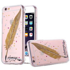 Ultra Slim Clear TPU Feather pattern transparent case for IPhone 6 6s 4.7 5.5