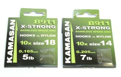 Kamasan B911 X-strong Sans Ardillon Bêche Fin Crochets Pour Nylon 5 LB disponible environ 3.18 kg environ 2.27 kg 7 Lb