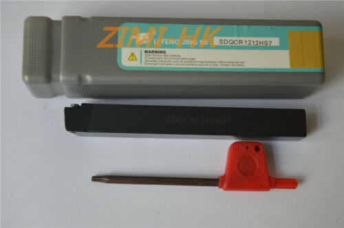 SDQCR1212H07 12 x100mm Lathe Index External Turning Tool Holder For DCMT07