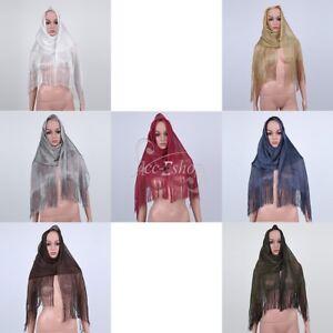 Women-039-s-Metallic-Fishnet-Fringe-Scarf-Shawl-Wrap-Party-Wedding-Shimmer-Glitter