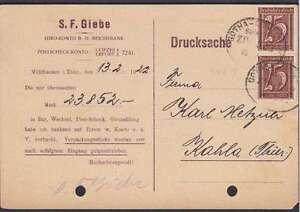 DR-Mi-Nr-161-MeF-auf-Drucksache-mit-Bahnpoststempel-Gotha-Kahla-1922-Infla
