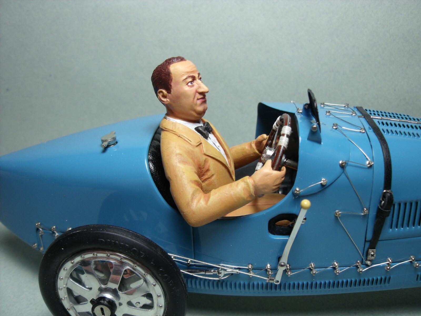 Ettore Bugatti 1/18 Figura Pintada hecha por brooom para Bugatti 35 CMC