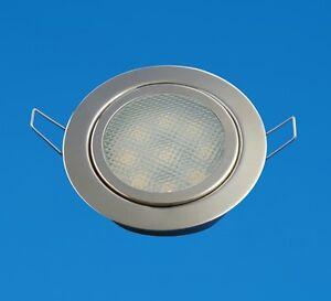LED-Boat-Caravan-Light-2-034-Down-Light-Stainless-Neutral-SMD-5050-LEDs-12V