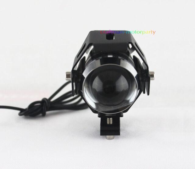 Motorcycle 125W 3000LM CREE U5 LED Driving Fog Sport light Headlight Black