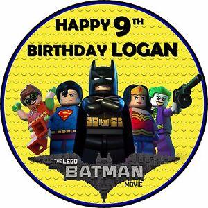 Image Is Loading 7 5 034 Lego Batman Birthday Edible Personalised
