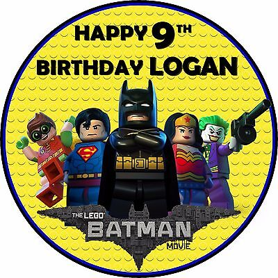 Super 7 5 Lego Batman Birthday Edible Personalised Cake Topper Ebay Personalised Birthday Cards Akebfashionlily Jamesorg