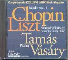 CHOPIN: BALLADES 1-4 / LISZT - ANNEES DE PELERINAGES - ITALIE / TAMAS VASARY