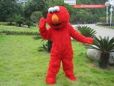 Sesame Street Elmo RED Monster Mascot Fancy Dress Costume Adult EPE Suit