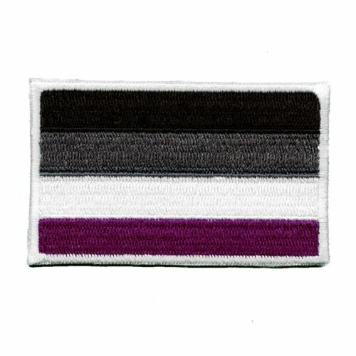 Asexual Pride Embroidered Iron On Flag Patch