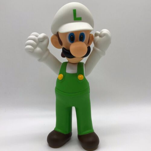 New Super Mario Bros U Fire Luigi Doll PVC Plastic Action Figure Toy 9.5/""
