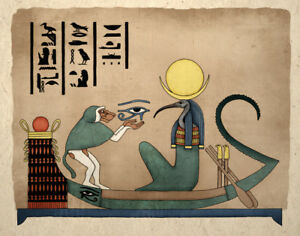 Details about Ancient Egyptian Art Print Thoth God Of Knowledge