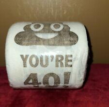 embroidered  Holy Crap 35th birthday gag gift 35th birthday toilet paper in clear display gift box